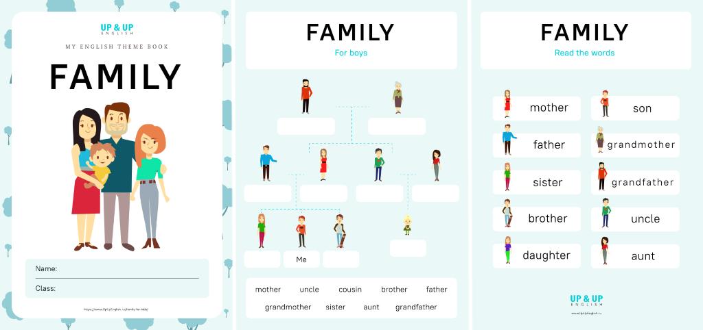 Рабочая тетрадь по теме «Семья»